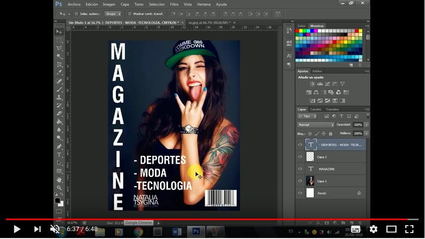 Como hacer Portadas de Revista en Photoshop cs6